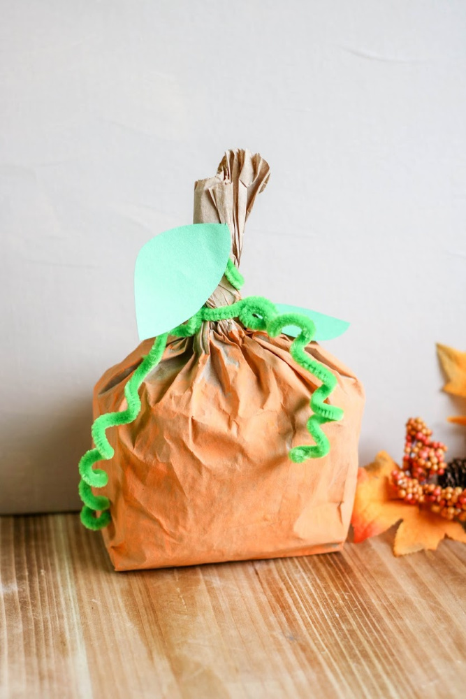 Pumpkin Paper Bag Craft Sample 3 2 1