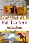 This free DIY tutorial teaches you how to make beautiful fall lanterns with just a few supplies! This makes for a fun fall activity to do with kids!
