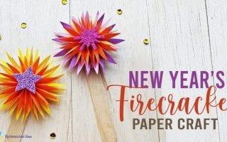 New Year's Firecracker Paper Craft