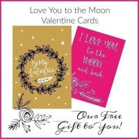 Love You to the Moon Valentines Cards