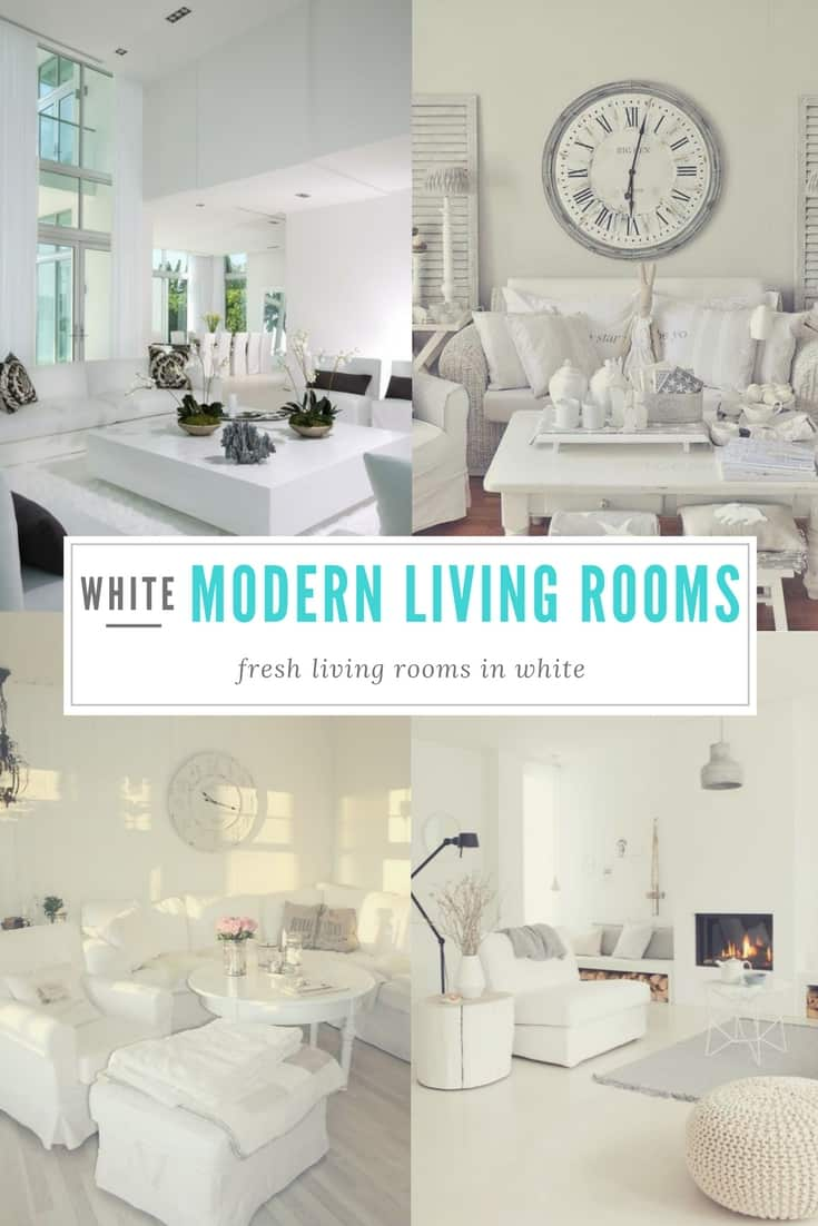 White Modern Living Rooms Perfect Canvas For Any Living Room, Crisp And  Clean