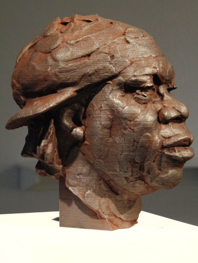 Rodman Edwards, KRS One, 2019, Iron oxide and graphite on polylactide