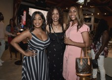 """LOS ANGELES, CA - AUGUST 16: Niecy Nash, Sondra Spriggs and daughter at the Ava Duvernay Hosted Special Screening of the Blumhouse film """"Don't Let Go"""" at the Amanda Theater at Array Creative Campus on August 16, 2019 in Los Angeles, California. (Photo by Scott Kirkland/Blumhouse/PictureGroup)"""