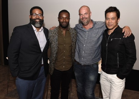 """LOS ANGELES, CA - AUGUST 16: Jamil Smith, David Oyelowo, Jacob Estes and Byron Mann at the Ava Duvernay Hosted Special Screening of the Blumhouse film """"Don't Let Go"""" at the Amanda Theater at Array Creative Campus on August 16, 2019 in Los Angeles, California. (Photo by Scott Kirkland/Blumhouse/PictureGroup)"""