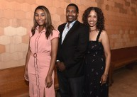 """LOS ANGELES, CA - AUGUST 16: Mykelti Williamson, wife Sondra Spriggs and daughter at the Ava Duvernay Hosted Special Screening of the Blumhouse film """"Don't Let Go"""" at the Amanda Theater at Array Creative Campus on August 16, 2019 in Los Angeles, California. (Photo by Scott Kirkland/Blumhouse/PictureGroup)"""