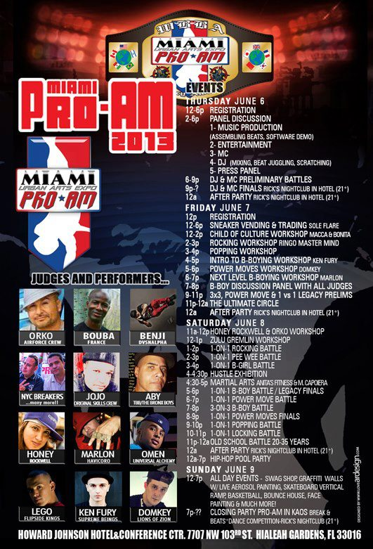 Bboy Miami ProAm 2013 Flyer Back