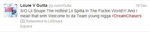 Lil Snupe Tweet 2