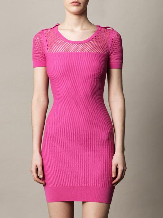 McQ-Alexander-McQueen-Mesh-Fitted-Dress