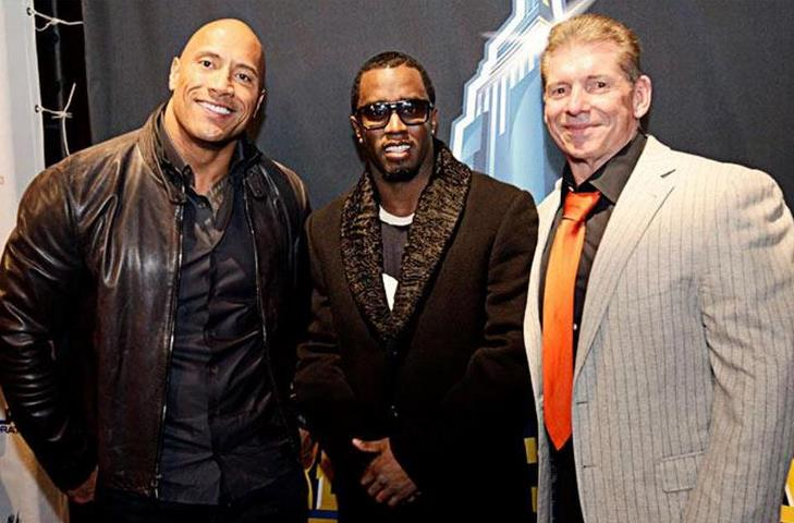 The Rock, Diddy & Vince McMahon
