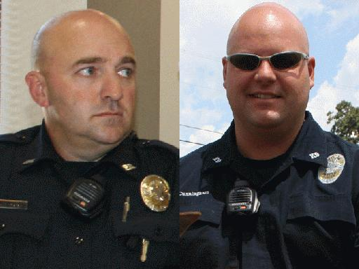 Officer Ricky Grissom  and Ryan Cunningham