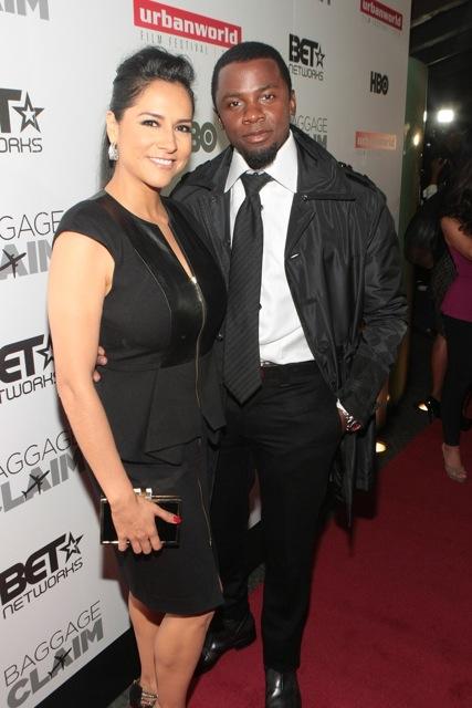 Derek Luke with wife Sophia