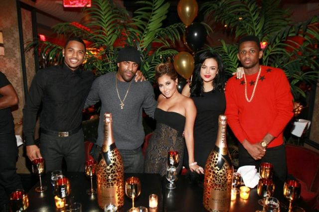 Trey Songz, DJ Clue, Adrienne Bailon, Emily and Fabolous