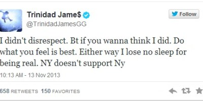 Trinidad James Tweet ATL NY