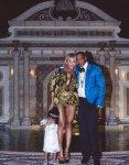 Family Portrait of Blue Ivy, Beyonce, & Jay Z