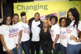 Marlon Wayans with Strength of Nature models 2 rszd