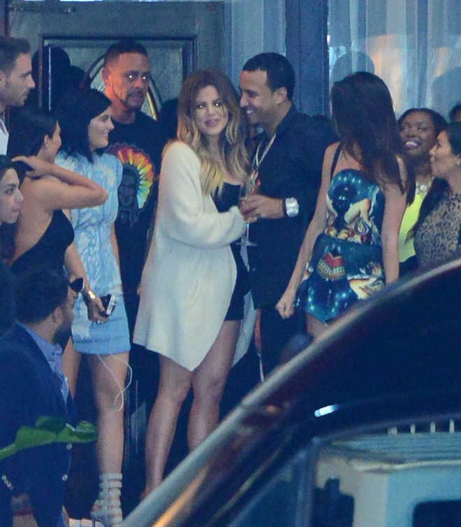 Khloe Kardashian gets a surprise new car for her birthday from French Montana as her family watches happily