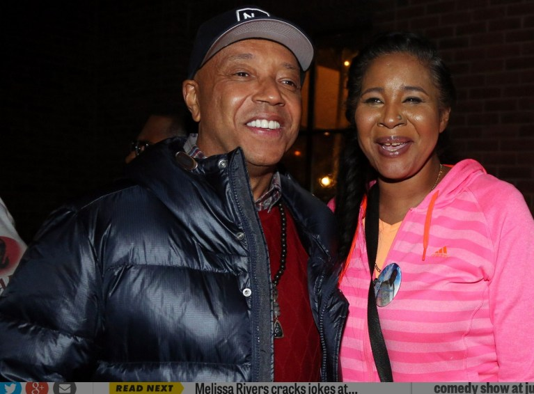 Russell Simmons and Eswar Garner, wife of Eric Garner/Credit:  Johnny Nunez