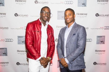 "​Reneard and Masud Wiggins (General Manager Audi Atlanta) at the ""Confessions of A Virgo"" Album Release Party at Audi Atlanta"