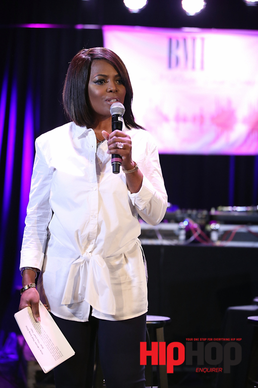 LOS ANGELES, CA - FEBRUARY 13:  BMI Vice President Catherine Brewton speaks on stage BMI's How I Wrote That Song Panel at Roxy on February 13, 2016 in Los Angeles, California.  (Photo by Joe Scarnici/Getty Images for BMI) *** Local Caption *** Catherine Brewton