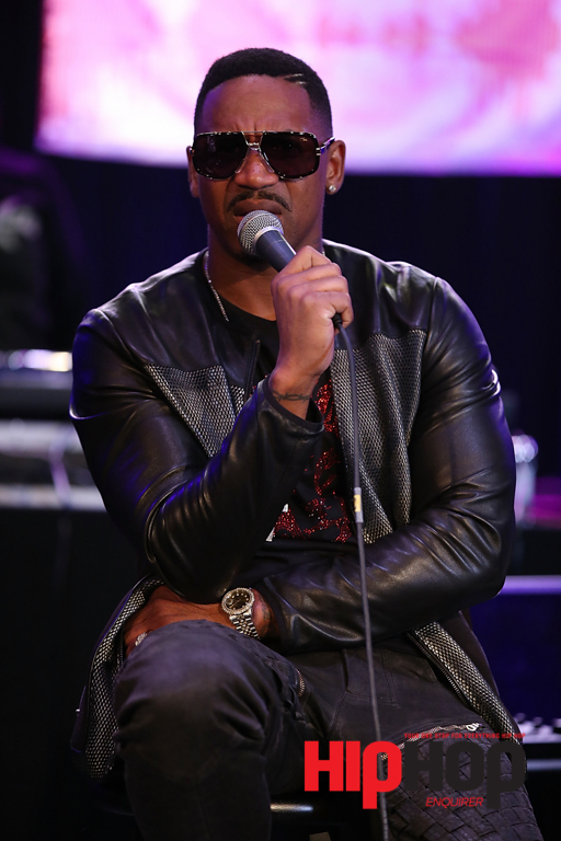 LOS ANGELES, CA - FEBRUARY 13:  Producer and TV Personality Stevie J speaks on stage at BMI's How I Wrote That Song Panel at Roxy on February 13, 2016 in Los Angeles, California.  (Photo by Joe Scarnici/Getty Images for BMI) *** Local Caption *** Stevie J