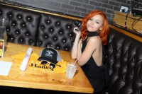 Kyndall at VIP table