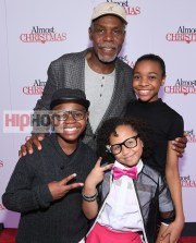 "ATLANTA, GA - OCTOBER 26: Danny Glover, Alkoya Brunson, Nadej Bailey, and Marley Taylor attend ""Almost Christmas"" Atlanta screening at Regal Cinemas Atlantic Station Stadium 16 on October 26, 2016 in Atlanta, Georgia. (Photo by Paras Griffin/Getty Images for Universal Pictures)"