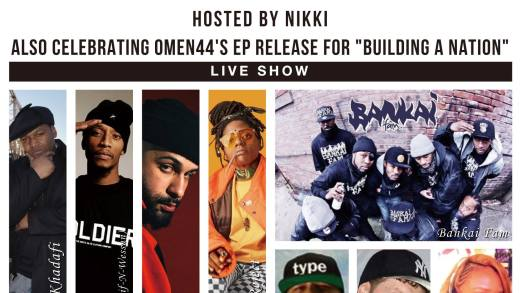 "OMEN44 ANNOUNCES ""BUILDING A NATION"" ALBUM RELEASE PARTY, AUGUST 24TH IN BROOKLYN"