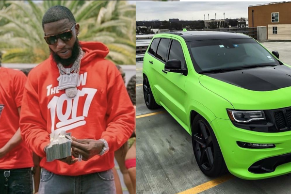 Gucci Mane gifts Pooh Shiesty lime green 2021 Jeep Trackhawk