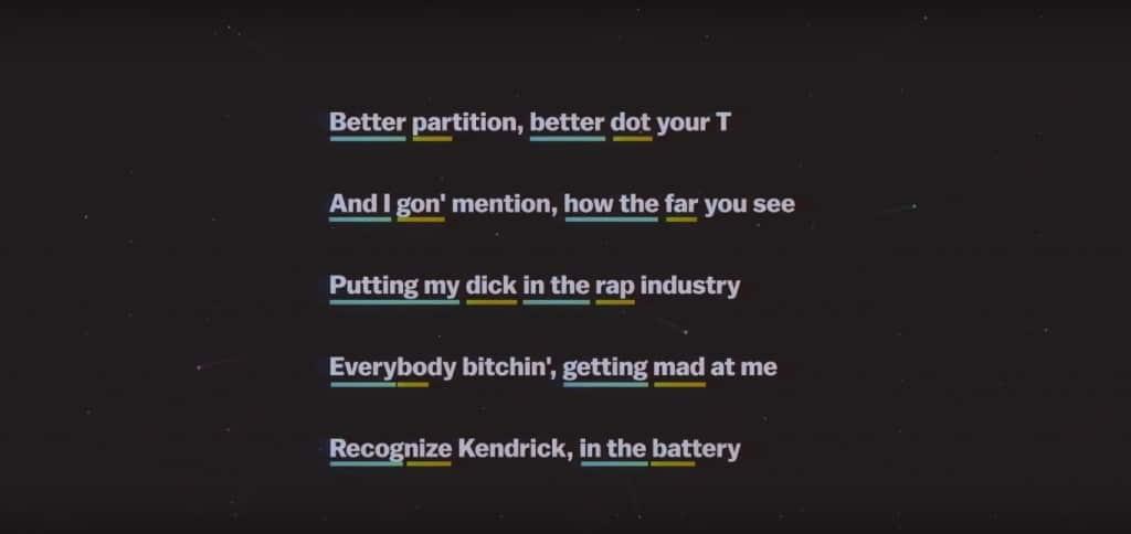 """Kendrick Lamar perpétue la tradition des schémas complexes en alternant rimes courtes et longues sur """"Rigamortus"""" en 2011"""