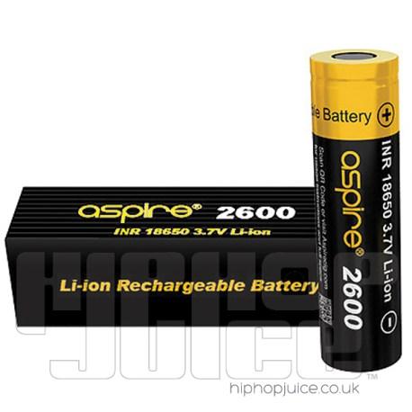 Aspire®-18650-2600mAh-40A-High-Drain-Battery
