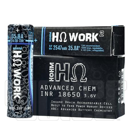 Hohm Life Batteries HΩ Work 18650