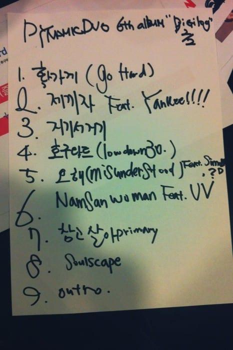 Dynamic Duo - Digilog 2/2 tracklist