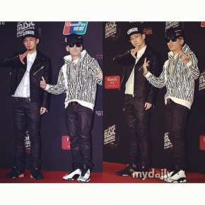 The Quiett and Dok2 at the Mnet Asian Music Awards