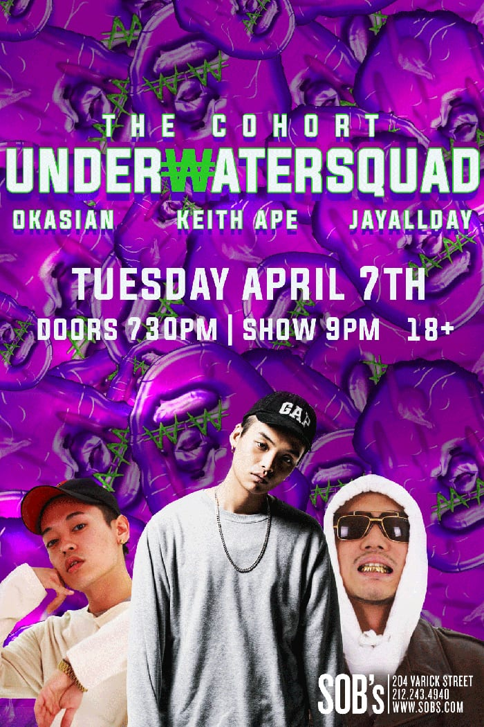 The Cohort - UNDERWATER SQUAD in New York concert poster