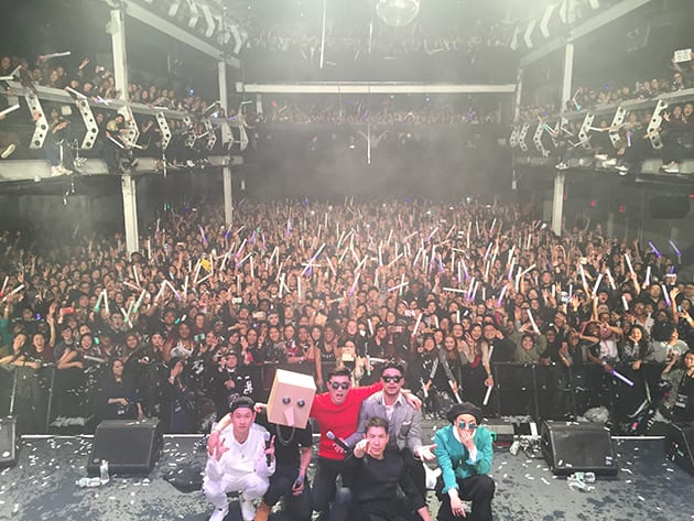 Amoeba Culture artists and the audience