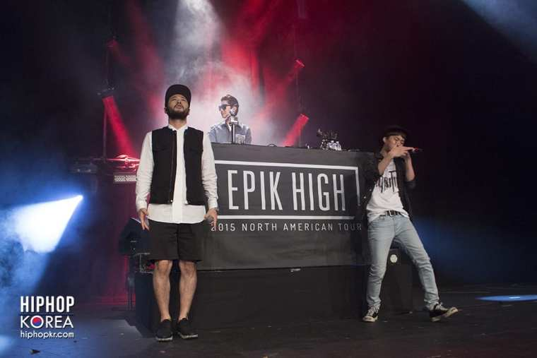 Epik High on stage