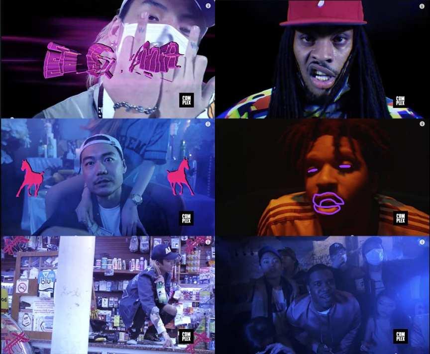 Keith Ape - It G Ma Remix (feat. A$AP Ferg, Father, Waka Flocka Flame, & Dumbfoundead) MV screenshots