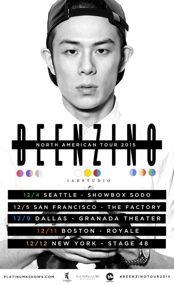 Beenzino - North American Tour 2015 dates