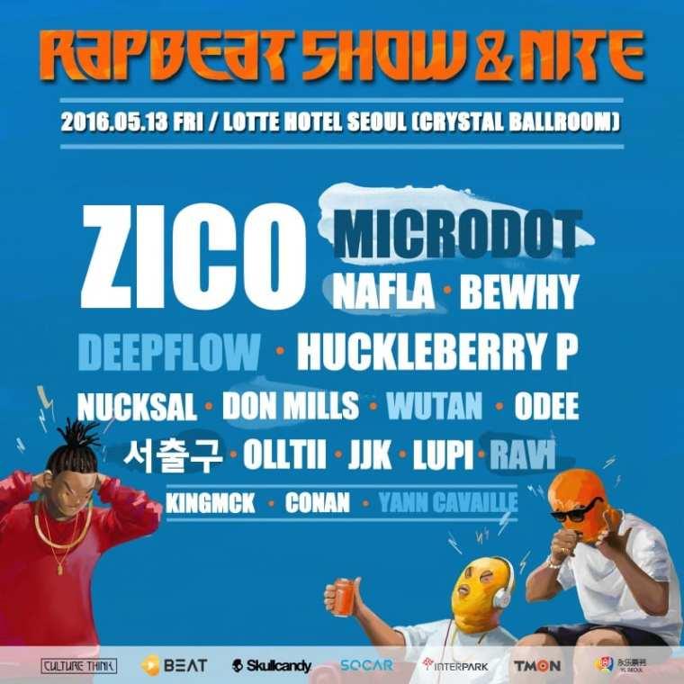 Rapbeat Show & Nite 2016 poster