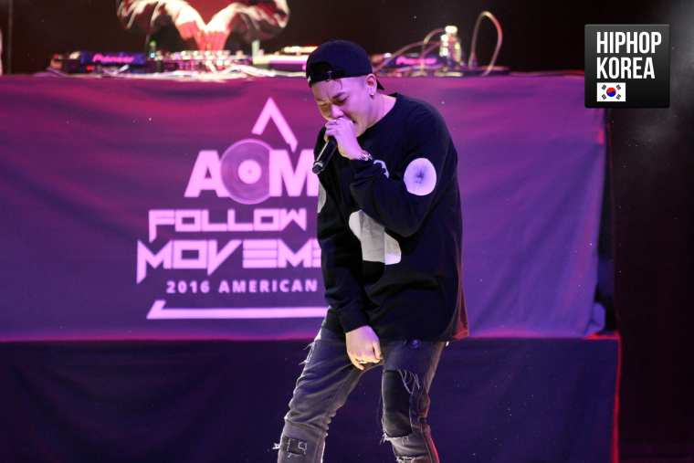 AOMG artist Loco at The House of Blues in Las Vegas, Nevada