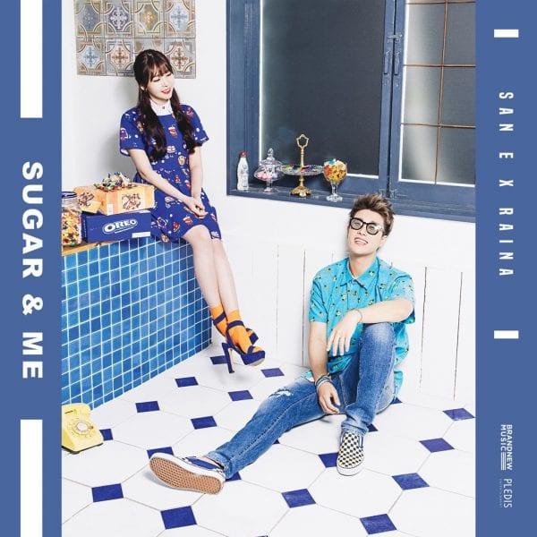 San E X Raina - Sugar & Me (album cover)
