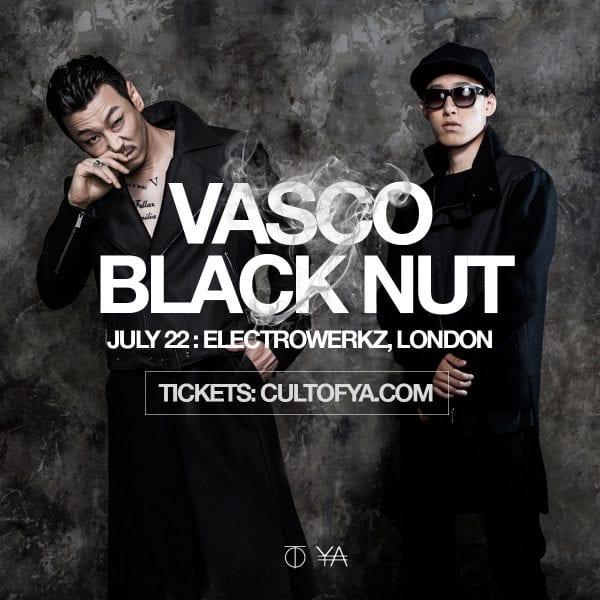 Vasco and Black Nut in London (concert poster)