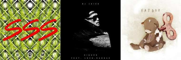 Album covers by KeeBomb, DJ Juice, Fatdoo
