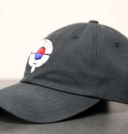 black dad hat - side