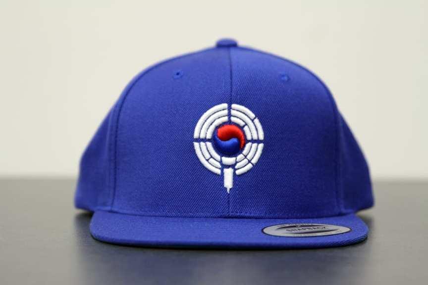 blue snapback - front