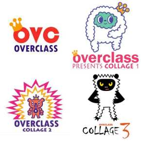 Overclass logo and album covers
