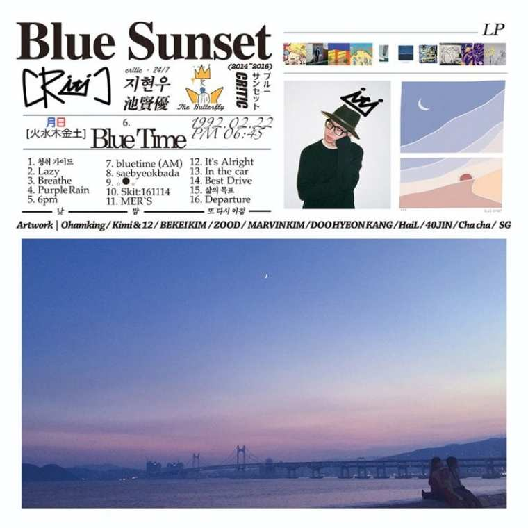 CRITIC - Blue Sunset (album cover)