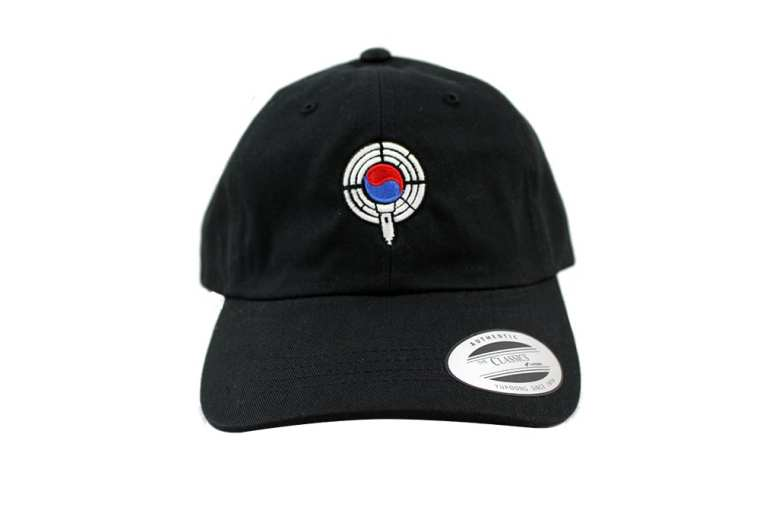 black dad hat front