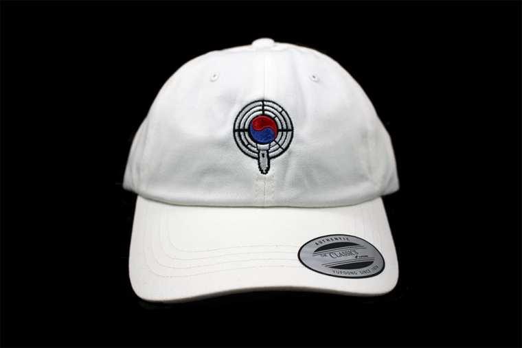 white dad hat front