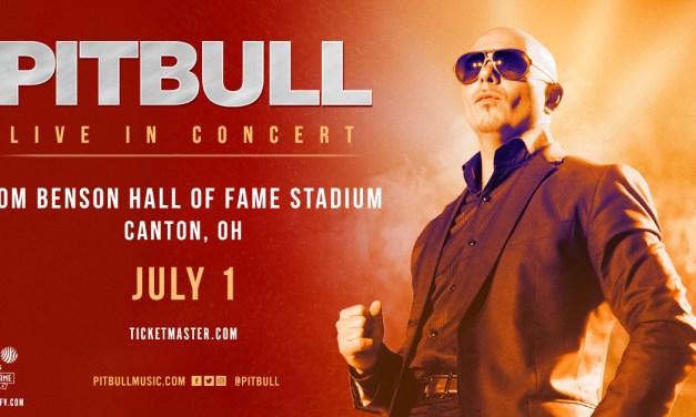 Pitbull Kicks off Football Hall of Fame Concert Series